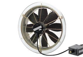 Axiální nástěnný ventilátor DZS 35/6 B E Ex e