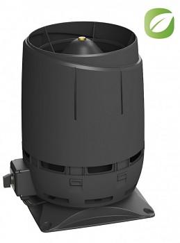 Vilpe ECO160S FLOW + montážní deska 300x300, černá RAL 9005