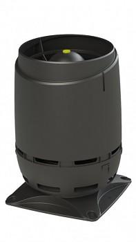 Odvětrávací vývod VILPE® 125S FLOW + montážní deska 250X250, černá RAL 9005