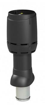 Odvětrávací potrubí FLOW izolované 125P/IS/500, černá RAL 9005