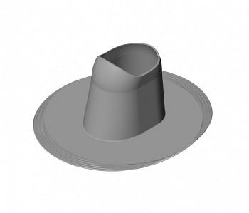 Manžeta COLLAR PVC HL200, šedá RAL 7015