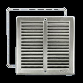 Čtyřhranné mřížky nerez se síťkou NVM 200 x 200