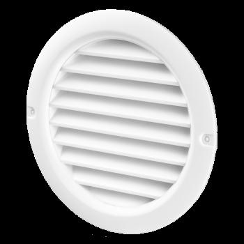 Kruhová odvětrávací mřížka VP MV 100 bVs bílá (se síťkou)